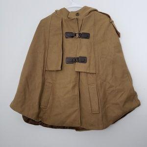 Lvero Mody Wool Blend Hoodie Cape Jacket